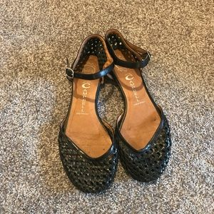 Jeffrey Campbell Woven black leather Mary Jane